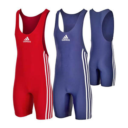 Picture of adidas® Performance Basic wrestling singlets, set of 2