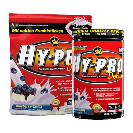 Picture of All Stars Hy-pro Deluxe 85, 4-component protein shake with real fruit pieces